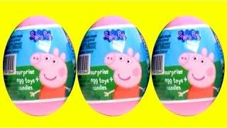 ペッパピッグ驚きの卵のpeppa豚のおもちゃは、生地の卵がおもちゃjuguetesデpeppa豚を驚かせるプレー