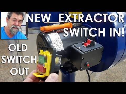 Dust extractor switch conversion remote control Dave Stanton easy woodworking