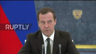 Russia: PM Medvedev reprimands Agriculture Minister Tkachov for tardiness