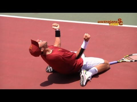 Steve Johnson - 2012 NCAA Championship Point and Celebration