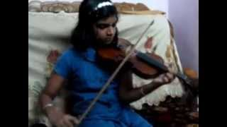 Thumbi Vaa (gumm summ gumm PAA, sangathil padatha, monday tho utkar) Violin cover by Abha .