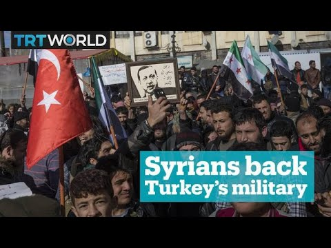 Syrian residents support Turkey's military operation in Afrin