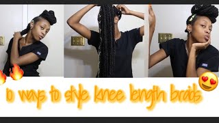 How to style knee length braids #braids