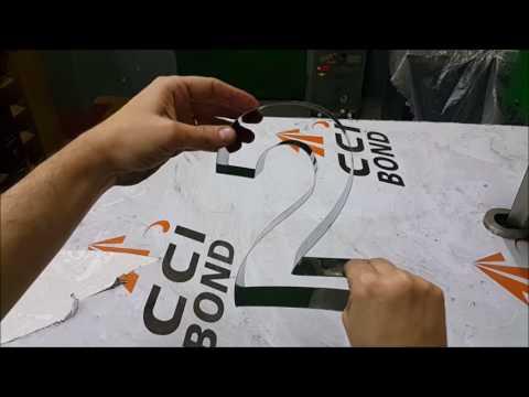 Confecção de Letra-Caixa em Aço-Inox