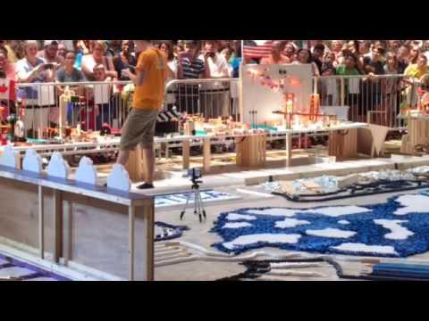 World record domino attempt