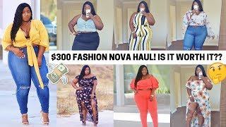 $300 PLUS SIZE FASHION NOVA HAUL! IS IT WORTH THE HYPE?? TRY ON + THOUGHTS