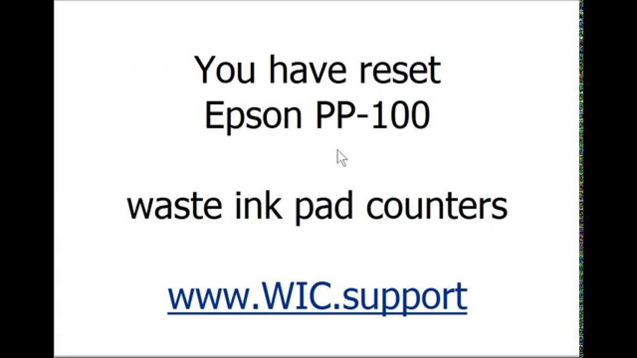 SOLVED: How to reset ink pad of epson L1300 without WIC - Fixya