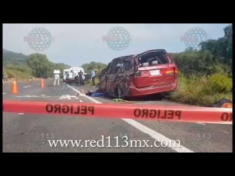 Sufre fatal percance una familia en la Autopista de Occidente