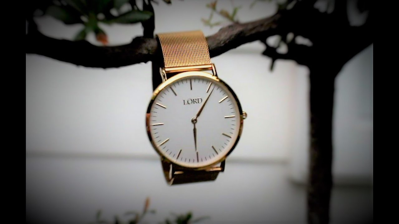Premium watches by lord time pieces classic gold youtube for Lord timepieces