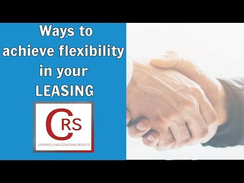 Ways to Achieve Flexibility in a Commercial Real Estate Lease