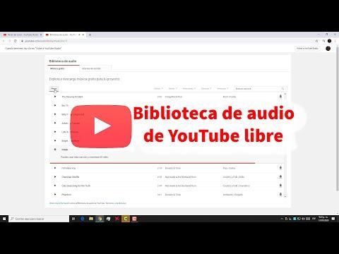Como usar la biblioteca de audio de YouTube Studio, música libre, efectos de sonido free @TVdigital