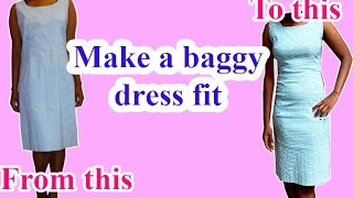 DIY clothes - H๐w to make a dress fit tighter//Remakes