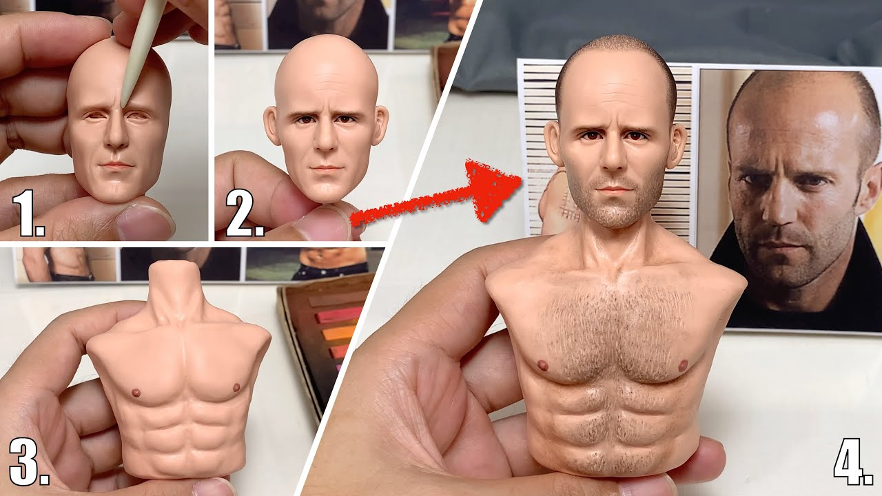 Jason Statham made from polymer clay, the full figure sculpturing process【Clay Artisan JAY】
