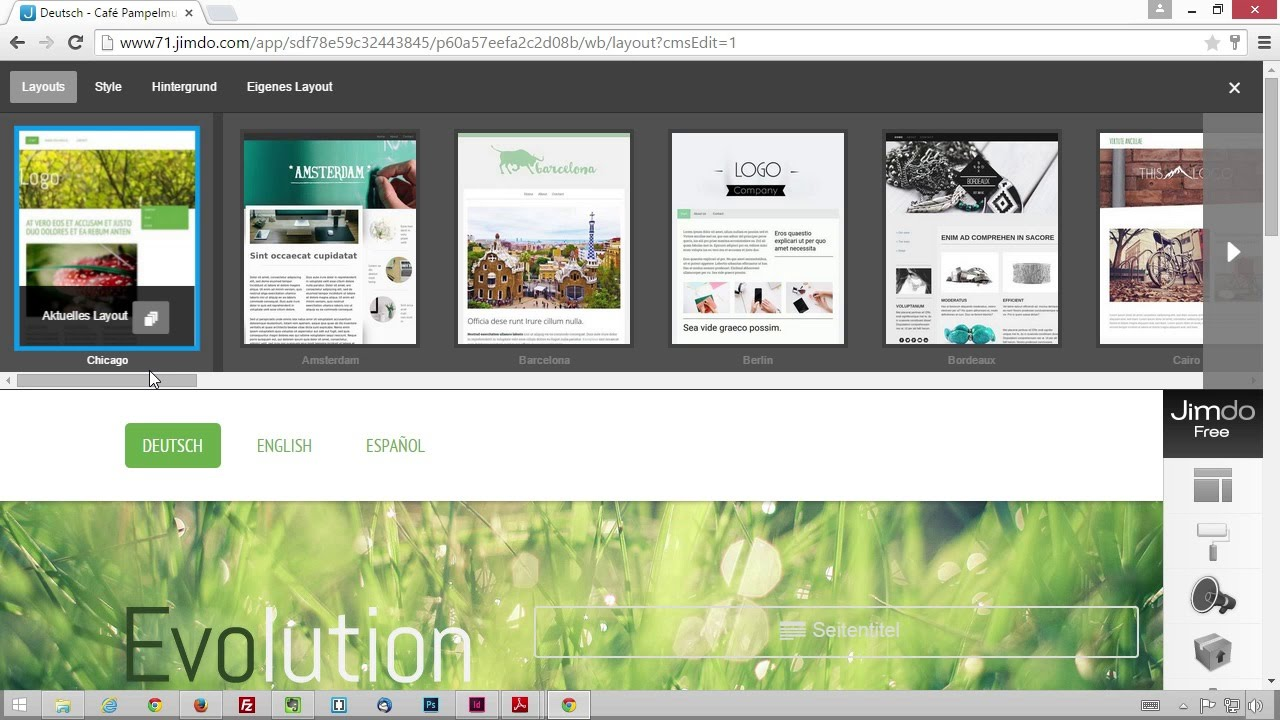Meine Eigene Website eine passende vorlage auswählen meine eigene website