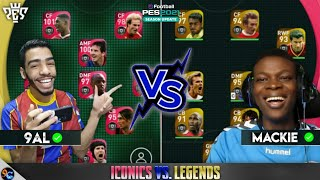 9AL GAMES vs MACKIE PES HD 🔥Iconic moments vs legends 🔥 pes 2021 mobile