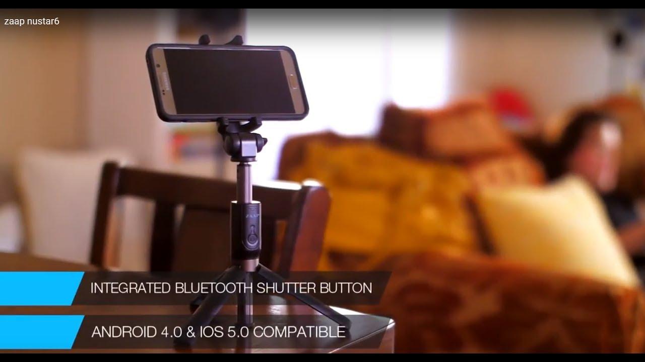 62910bd8803c69 ZAAP NUSTAR6 Aluminium Premium Bluetooth Selfie Stick with In-built Tripod