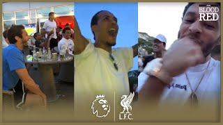 Baixar Liverpool players CELEBRATE together as Premier League 2019/20 CHAMPIONS