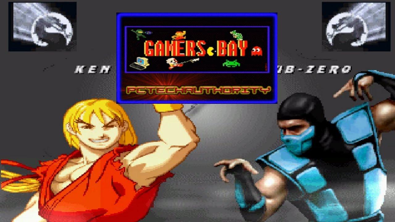 Mortal Kombat Vs Street Fighter Ken Vs Sub Zero Youtube