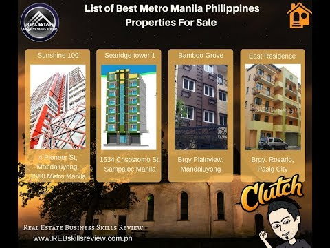 List of Best Metro Manila Philippines Properties For Sale