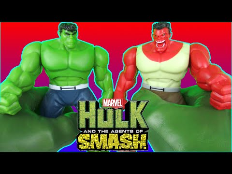 HULK SMASH Red Hulk vs Green Hulk 2 Movie Shake 'N Smash Epic Battle Parody Video by Toy Review TV
