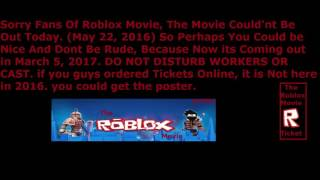 The Roblox Movie Was Cancelled Today.