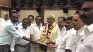 C Kalyan Honored by KFCC President Sa Ra Govindu and Team