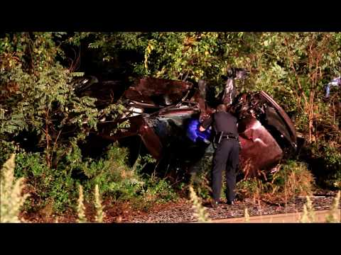 LIRR TRAIN HITS VEHICLE ON TRACKS IN BROOKHAVEN NY