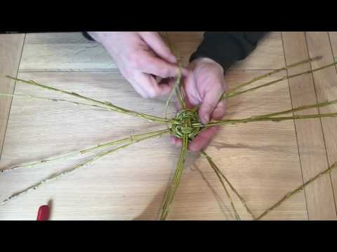 How to make a simple willow basket.