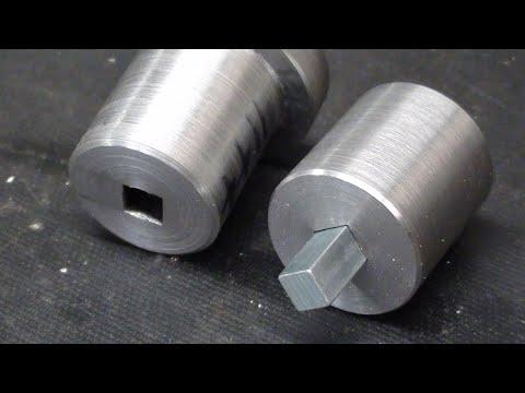 Machine Drill a Square Hole in Round Stock 705 tubalcain