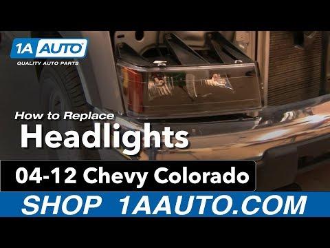 Headlight w// Chrome Bezel Passenger Right RH for 05-08 Colorado Xtreme Models