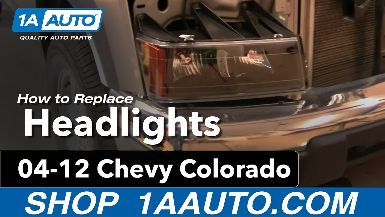 medium resolution of how to install replace headlights and bulbs chevy colorado 04 12 1aauto com