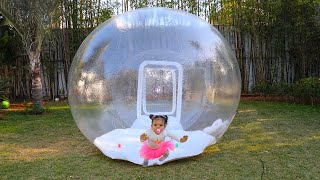 Sami and Amira build Inflatable Playhouse