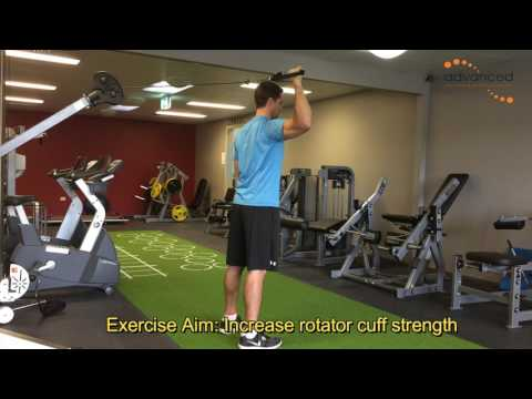 SHOULDER EXERCISES Standing Cable Internal Rotation At 90 Degrees