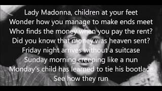 Lady Madonna lyrics (Paul McCartney with Wings)