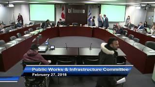 Public Works and Infrastructure Committee - February 27, 2018