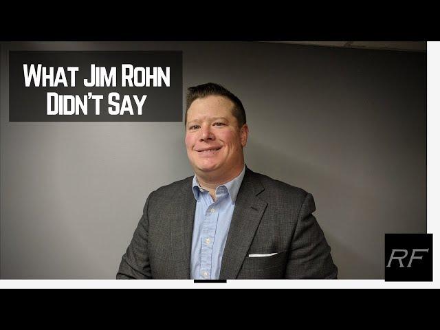 What Jim Rohn Didn't Say
