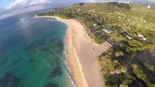 HD - Sunset Beach Hawaii - Drone Video ( Future Islands )