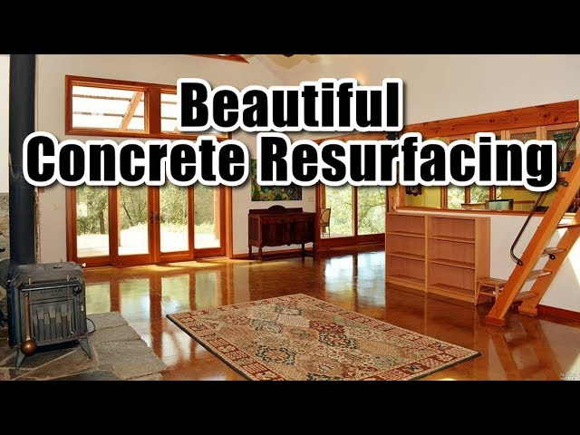 How To Resurface Concrete Floor You