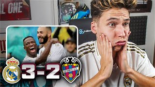 REACCIONES DE UN HINCHA Real Madrid vs Levante 3-2 *DE MILAGRO*