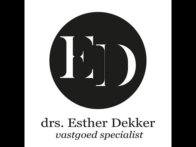 Vastgoed Vlog 1 drs. Esther Dekker