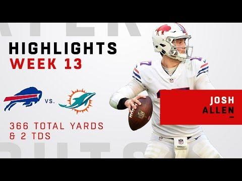Josh Allen Highlights vs. Dolphins