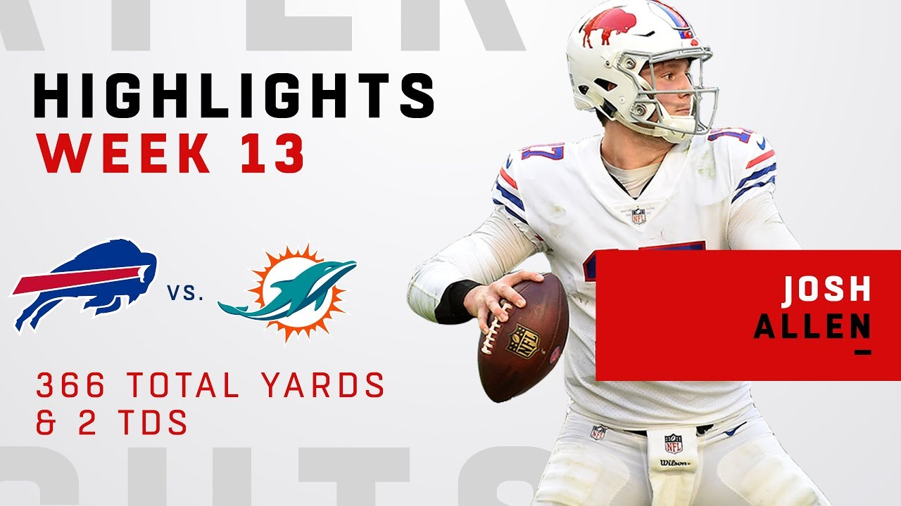 461246a1 Josh Allen Highlights vs. Dolphins - YouTube