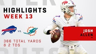 Josh Allen Highlights vs. Dolphins