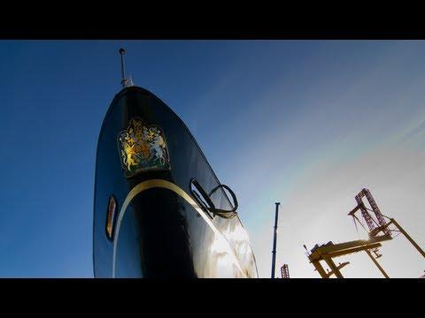 Dry Docking The Royal Yacht Britannia