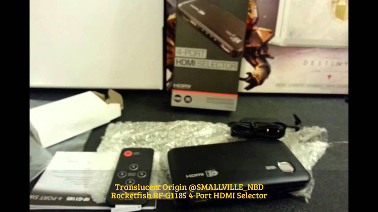 UNBOXING: Rocketfish RF-G1185 4-Port HDMI Selector Review & How-To Setup