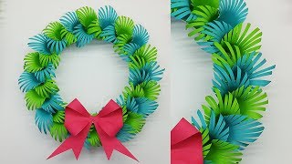 Paper Christmas Wreath for Christmas Decorations Ideas   How to Make Christmas Wreath
