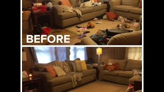 CLEANING ROUTINE: LIVING ROOM