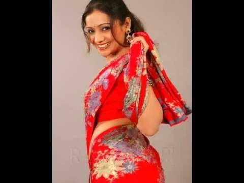 Meera Vasudev Hot Red Saree