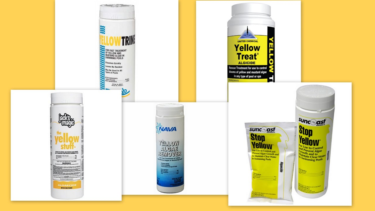 Yellow Algae Removers Using Sodium Bromide To Treat Mustard Algae Youtube