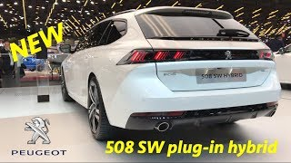 New Peugeot 508 SW GT Plug-in Hybrid 2019 - first look in 4K